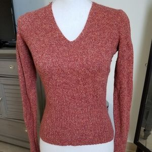 THE LIMITED CASHMERE WOOL BLEND V NECK SWEATER